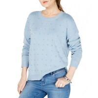 INC NEW Women's Embellished Cotton Blend Crewneck Sweater Top TEDO