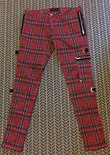 Vintage Punk Tartan Bondage Trousers 34W 32L