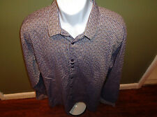 BG The Authentic shirt Maker Size 6 Xl Long Sleeve GRAY BLACK YELLOW