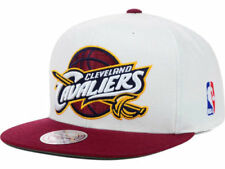 Cleveland Cavaliers Mitchell and Ness NBA 2 Tone Snapback Hat Cap - White