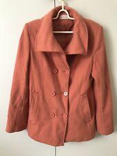 Sakura Wool Blend Coat Jacket SiZe 10 Soft Earthy Orange