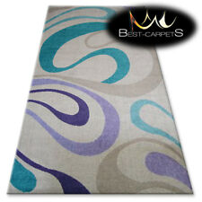 """AMAZING RUGS """"BOLOGNA"""" cream, waves, modern designs carpet, easy to clean"""