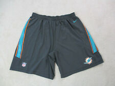 Nike Miami Dolphins Shorts Adult 4XL XXXXL Gray Green Player Issue Football A3