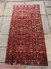 Vintage PERSIAN RUG Carpet Handmade Traditional 100% Wool 176cm x 82cm 9677
