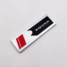 Matte Silver Roush Logo Emblem Decal 3D Metal Badge Sticker for F150 Mustang GT