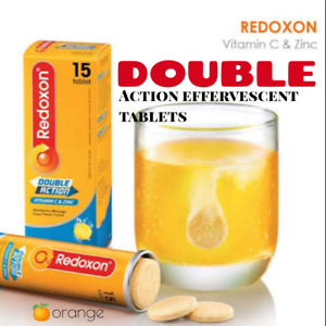 REDOXON Double Action effervescent ORANGE tablets 15's ~ship fr Malaysia