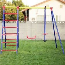 Metal Swing Sets For Kids Outdoor Playground Backyard Children Set Childs Yard