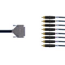 Multicore RCA Phono D-Sub Loom DB25 | Neutrik | 8 Channels | 1 Meter Van Damme