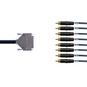 Mogami 2932 Multicore D-Sub Loom   DB25 to Neutrik RCA Phono   8 Way   1 Meter