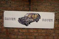 range rover   CLASSIC black pvc large WORK SHOP BANNER garage car show banner