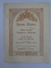 Henry Irving Centenary Matinee, Royal Lyceum Theatre, May 23 1938