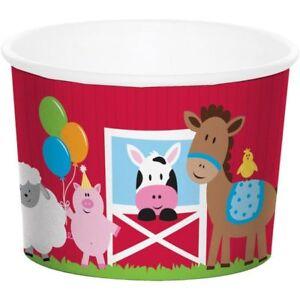 Farmhouse Fun Treat Cups 6 Pack Farm Birthday Party Decoration