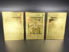 Japanese Version Custom Yugioh Egyptian 3 Gods G4-01 02 03 Golden Metal Cards
