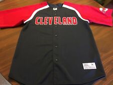 CLEVELAND INDIANS RARE #11 MANNY ACTA SPRING TRAINING SEWN JERSEY  LARGE  42-44