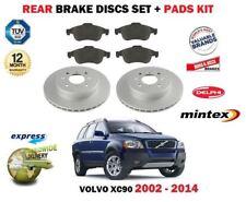 FOR VOLVO XC90 2.5 T D5 T6 V8 2002-->ON REAR BRAKE DISCS SET & DISC PADS KIT