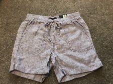 M&S  Women Cobalt  100% Linen Casual Shorts BNWT Size 6 Free Sameday Postage