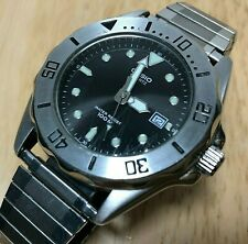Casio MTD-1008 Mens 100m Diver Steel Analog Quartz Watch Hours~Date~New Battery