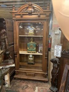 ANTIQUE largeFRENCH LXV STYLE carved Vitrine/ bookcase