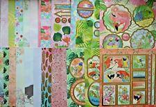 """11 x 8"""" x 8"""" Sheets Hunkydory Tropicanarama Craft Stack NEW"""