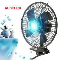 """10""""12V Portable Dashboard Vehicle Auto Car Truck Fan Clip-On Oscillating Cooling"""