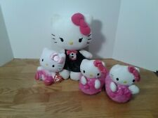 Lot 3 Hello Kitty Stuffed Plush Animals Sanrio Slippers Ballerina Black Tuxedo