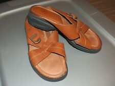 WOMENS ARIAT  LEATHER SLIDE ON STRAPPY STYLE SANDALS...SZ 6.5B