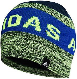 Adidas Boys Youths LK Beanie Hat GE3325 Age 12 to 16 Years Blue Green Brand New