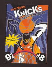 New York Knicks--1997-98 Pocket Schedule