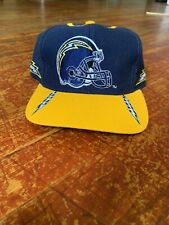 Vintage NFL San Diego Chargers Blue Yellow Dual Spellout Logo Snapback