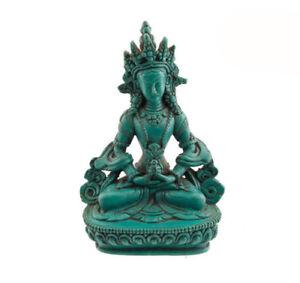 Statue Tibetan Buddha Amitayus Resin Turquoise Buddha 14 CM 864