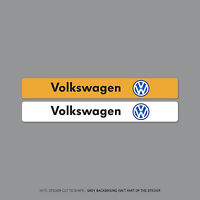 SKU2082 - Volkswagen VW Number Plate Dealer Logo Cover Stickers - 140mm x 18mm