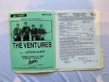 The Ventures Concert Contract 1998 Pittsburgh
