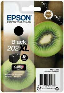 Original Epson Tinte Patrone 202XL schwarz für Expression XP 6000 6005 6100