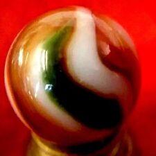 "Peltier 3 Color Swirl Marble .673""  Christmas Tree Indian Summer 16mm Miller"