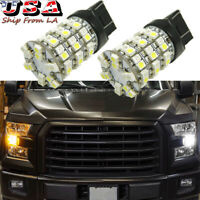 2x White Amber Switchback LED Turn Signal Light Bulbs For Ford Edge F-150 Focus