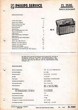 Service Manual-Anleitung für Philips EL 3585,RK 5