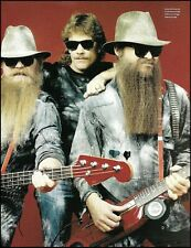 Zz Top Dusty Hill Frank Beard Billy Gibbons Charvel Eliminator Car guitar pin-up