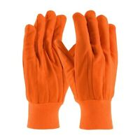 "Industrial Gloves Hi-Vis Cotton/Polyester Double Palm Glove One Size "" 6 Pairs """
