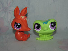 LPS Littlest Pet Shop Blind Bag Candyswirl Green Frog, Orange Armadillo