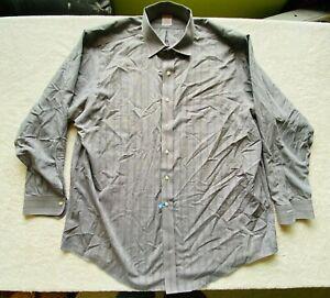 Brooks Brothers Madison XXL 18-35 Button Up Shirt Checks Plaid Casual Gray White