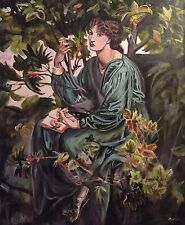 """NEW DAVID ALDUS ORIGINAL """"The Day Dream"""" After Rossetti Oil on Canvas PAINTING"""