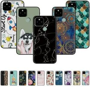 For Google Pixel 5 4A 4 3A 3 XL Black Slim Painted TPU Soft Silicone Case Cover