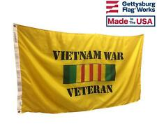 3x5' Vietnam War Veteran Flag, Military Service All Weather Nylon Outdoors