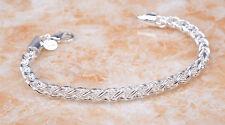 Beautiflul Spiga Wheat Rope Chain 18K White Gold GP Bracelet Jewelry H924