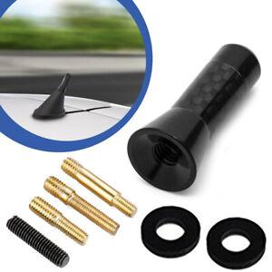 """1.3""""/3.5cm Universal Black Carbon Fiber Car Mast Screws Short Radio Aerial Anten"""