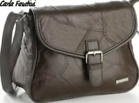 Schicke Damen Ledertasche aus echt Leder braun Schultertasche Handtasche Tasche
