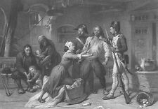 French Revolution, Army Arrests PEASANT Royalist ~ Old 1865 Art Print Engraving