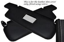 GREY STITCH FITS BMW 3 SERIES E21 75-84 2X SUN VISORS LEATHER COVERS ONLY