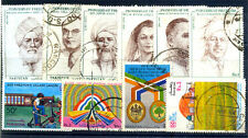 PAKISTAN 10 Different Large Commemoratives Used Thematic Genuine Postage Stamps