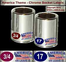 """""""America Love It"""" Edition Theme Labels for Socket Sets Patriotic Handy & Helpful"""
